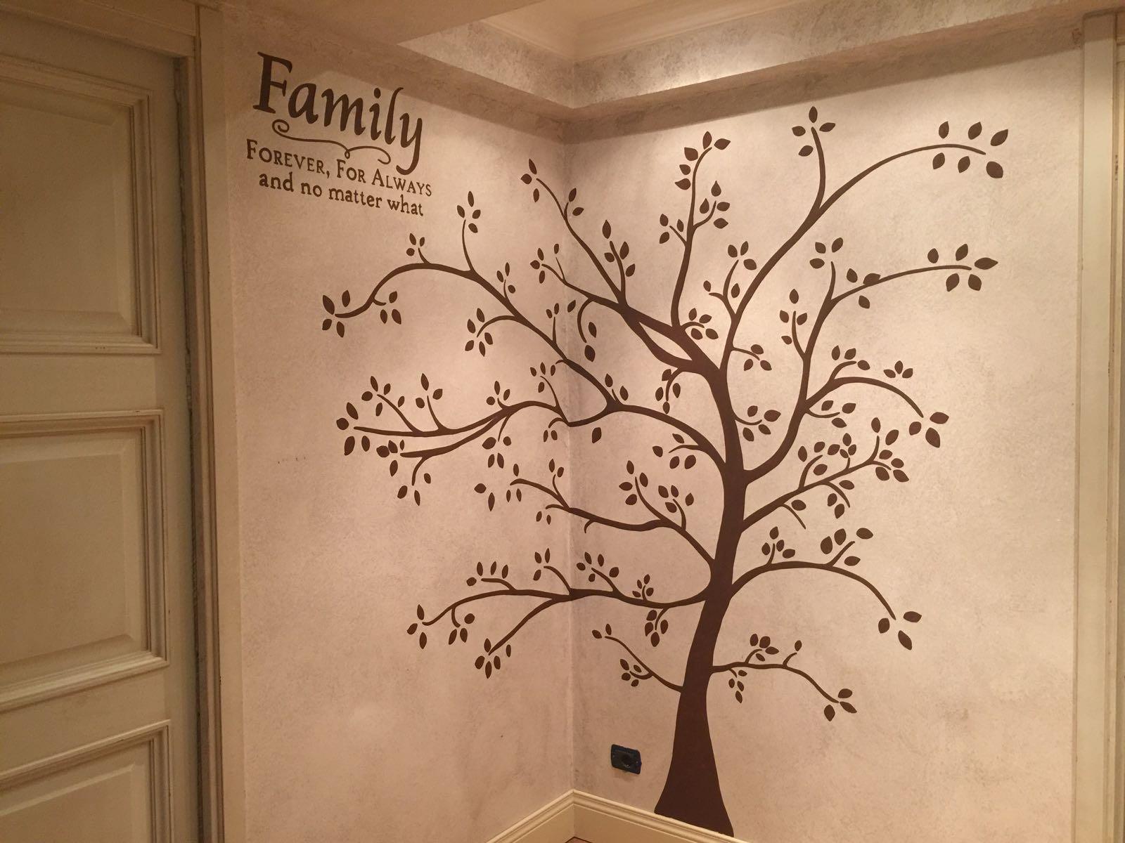 Decorazione parete albero con foglie - Decorazione parete cameretta ...