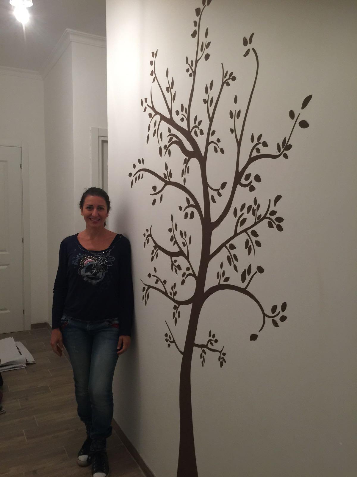Decorazione parete - Albero con le foglie