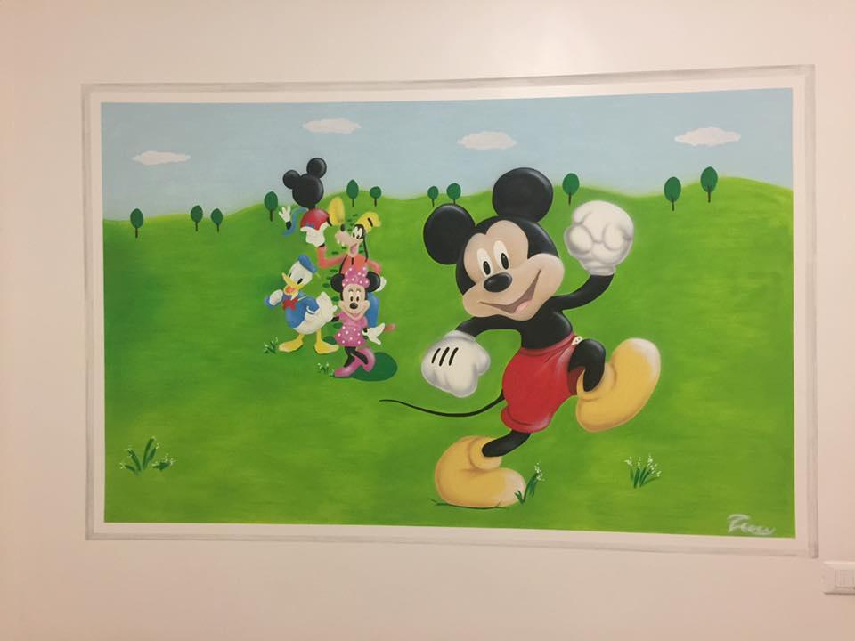 decorazione cameretta - topolino
