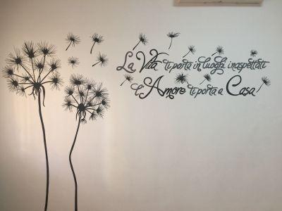 decorazione parete - Soffioni