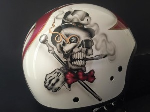 Aerografia di un casco Harley Davidson - Il Mago