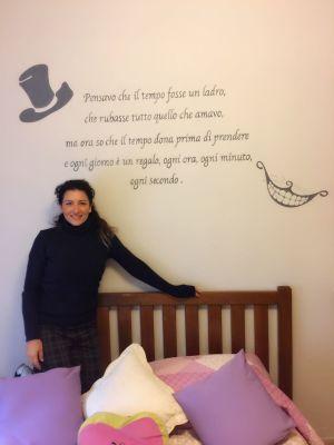 Decorazione parete - Alice nel paese delle meraviglie