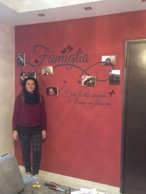 Decorazione parete - Famiglia con foto