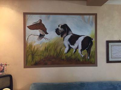 decorazione parete - Cane da caccia